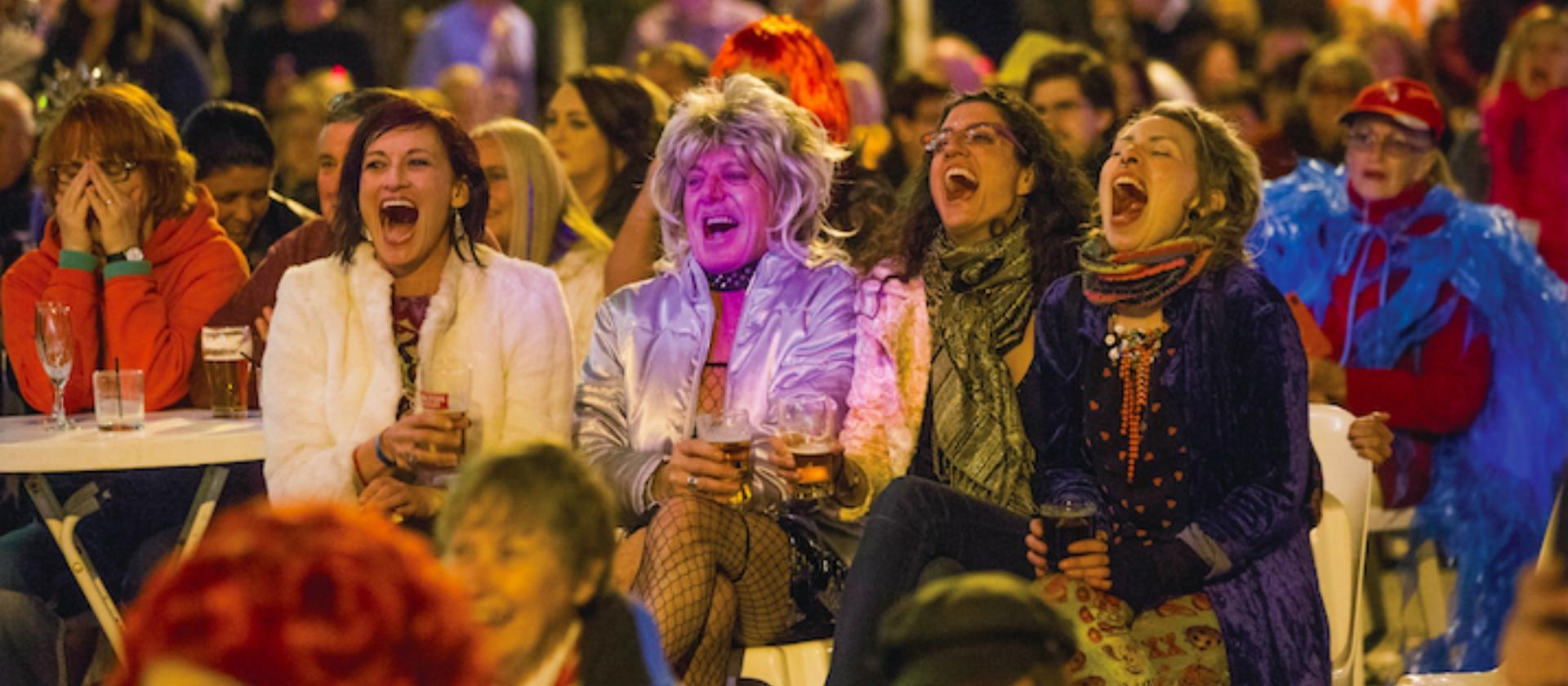 Delighted crowd at Broken Hill's Broken Heel Festival 2017