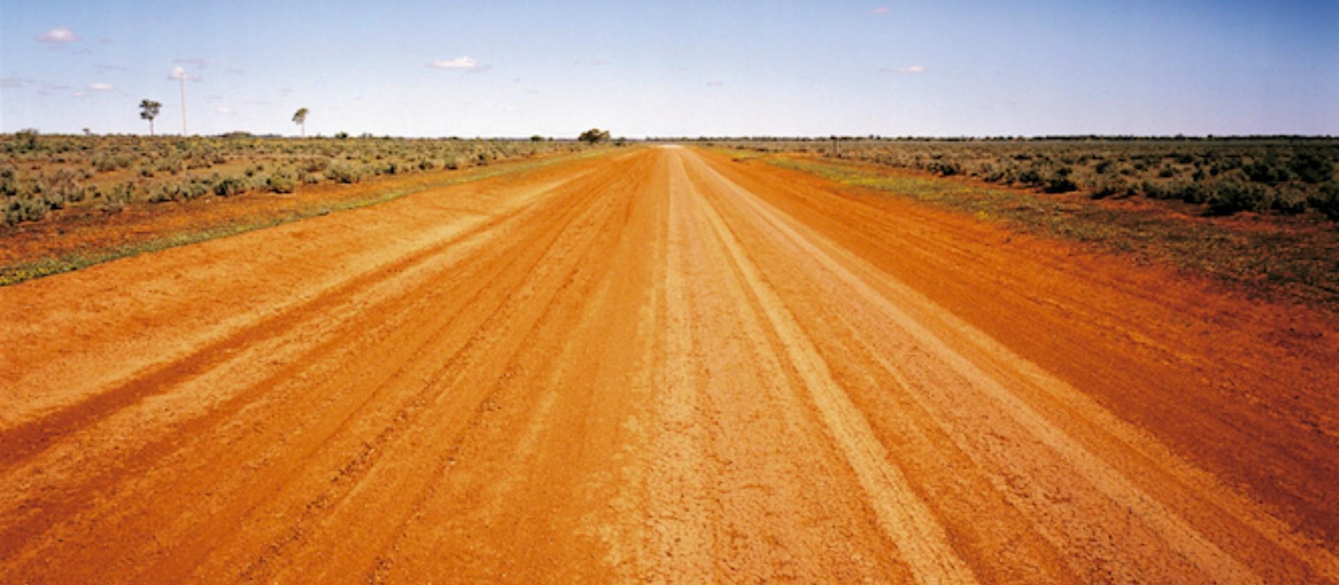 Red dirt road at Mundi Mundi Near Broken Hill